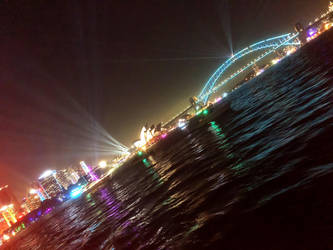 Sydney Harbour at Night by Bartius007