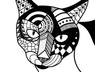 Zen Cat by NapalmBeetle