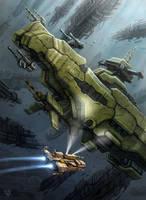 Derelict Battleship by LeonovichDmitriy