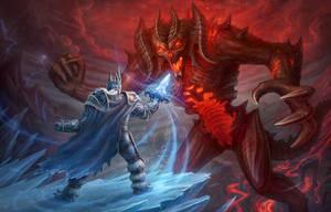Arthas vs Diablo by LeonovichDmitriy