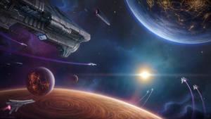 Space Fleet by LeonovichDmitriy