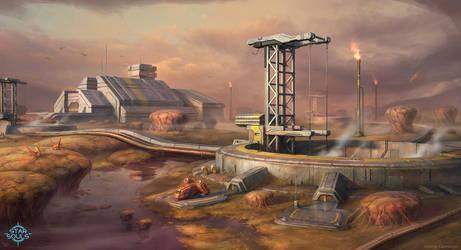 Mining Complex 01 by LeonovichDmitriy