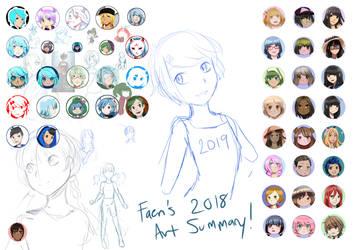 Faeri's 2018 Art Summary by faerimagic