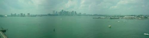 Boston Harbor Side by Xionbox