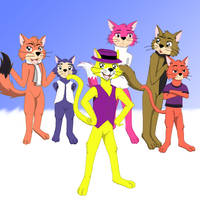 Top Cat And The Gang by Kitsune-Alchemist