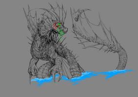 [SKETCH]Titanosaur by plaguebr