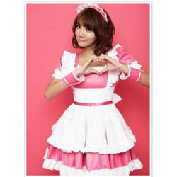 K-ON Pink Maid Cosplay by carrieleo