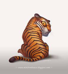 Tiger Last Glance by minitreehouse