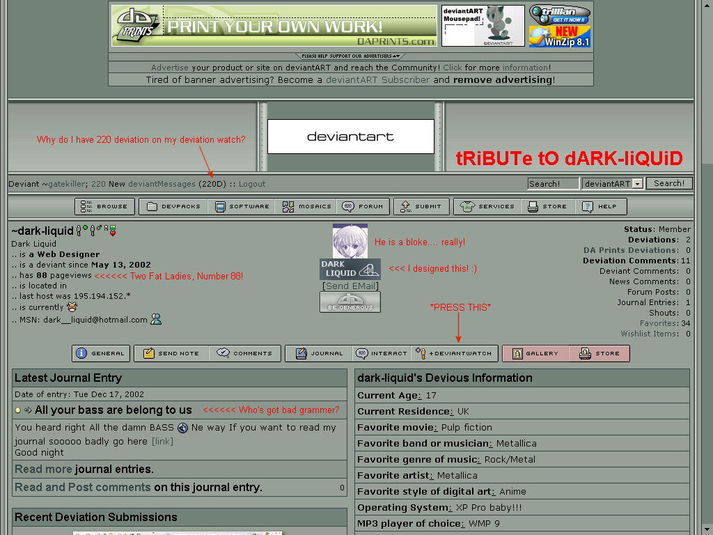 DARK-LIQUID 88 PAGEVIEWS by gatekiller