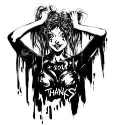 Harley Quinn 202 Thanks!!! by raradat