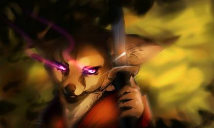 Samurai fox doodle by Capukat
