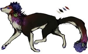 CLOSED- Dark rosey canine adopt by Capukat