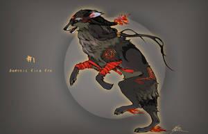 CLOSED - Demon Fire Fox Auction by Capukat