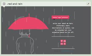 [ CB ] Red and Rain Code - gif BG by raionxdesu