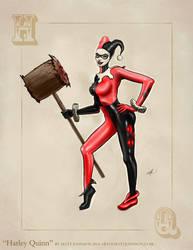 Harley Quinn Pinup Art by Matt Johnson by ceramicmatt