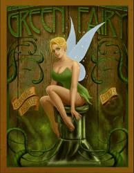 Tinkerbell Pinup - Green Fairy Absinthe by ceramicmatt