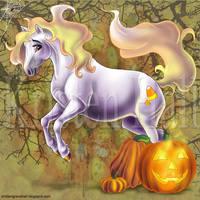 Candy Corn Pony by MonocerosArts