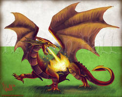 Great Red Dragon by Unicornarama