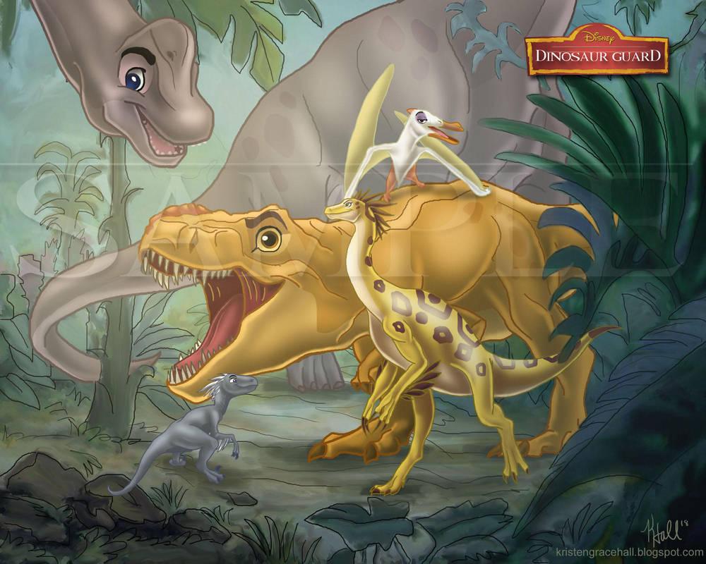 The Dinosaur Guard by Unicornarama
