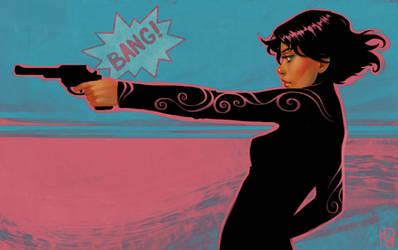 Gun Girl II by DanielaUhlig