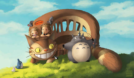 Totoro and Friends by DanielaUhlig