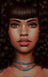 african scarification by DanielaUhlig