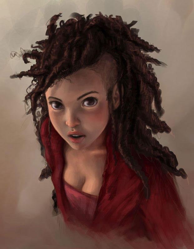 portrait of a girl II by DanielaUhlig