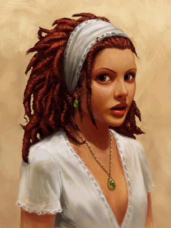 portrait of a girl III by DanielaUhlig