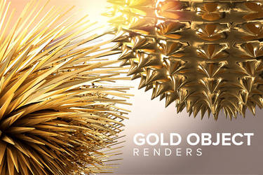 Free Gold Object Renders by DesignerCandies