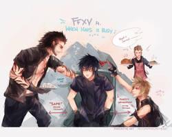 FFXV: DORKS !! by Fiveonthe
