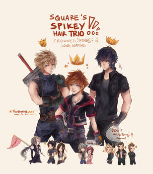 SQUARE'S SPIKEY HAIR TRIO!! by Fiveonthe