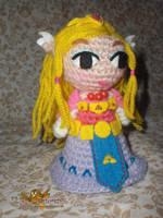 Zelda amigurumi, inspired toon Zelda by elbuhocosturero