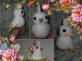 Kawaii cockatiel amigurumi by elbuhocosturero
