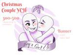 Christmas Couple YCH 'Mistletoe' | OPEN by DragonitaVioleta