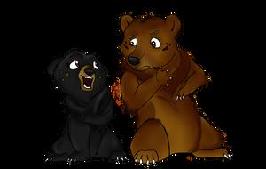 Lusa and Toklo by Fawnan