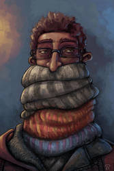 Self Portrait - Scarf by JesterCapp
