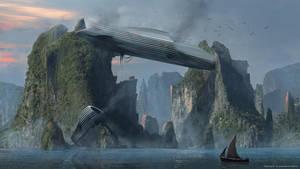Fallen ship by Styoo