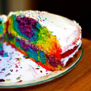Double Rainbow Cake by OnyxFox