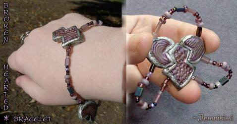 Broken-Hearted Bracelet by jemnisimi