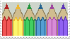 Coloured Pencil Stamp by ColaCherry