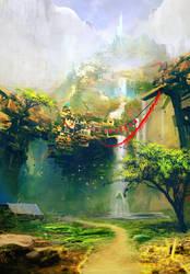 Waterfall City by Obilex
