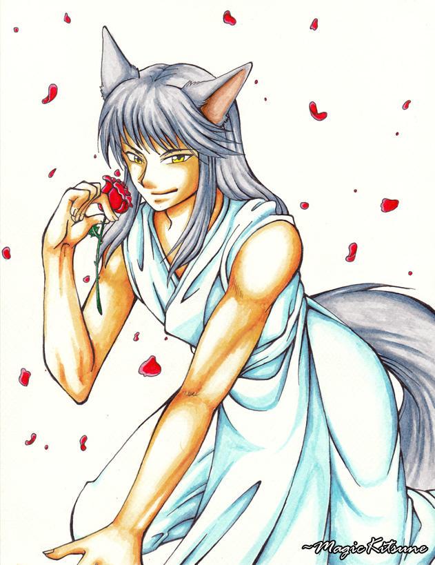 The Silver Fox by MagicKitsune