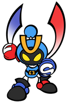(Remas.) Magnet bomber full body Super bomberman R by MonserratCrazy5