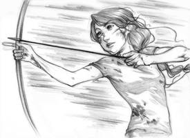 The Hunger Games Katniss by curry23