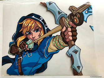 Link - Breath of the Wild Animation Cel by curry23