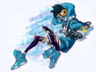 Tracer Watercolor by curry23