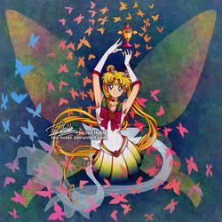 Super Sailor Moon - Butterflies by Teo-Hoble