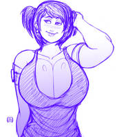 Breast girl sketch by EICHH-EMMM