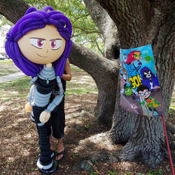 Blackfire Balloon for Teen Titans Birthday by NoOrdinaryBalloonMan