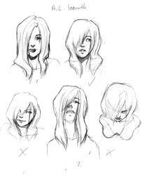 character design sketch page by PrivateBasementNo13